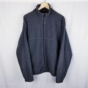 Columbia Fleece Jacket Full Zip Grey Size Large